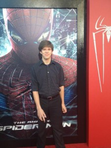 Me on the red carpet at the premiere of The Amazing Spider-Man
