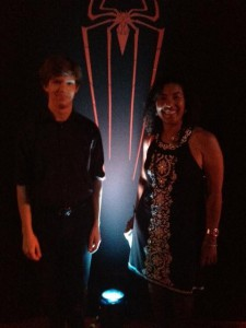 My manager, Tina Treadwell, and I, attending the premiere of The Amazing Spider-Man